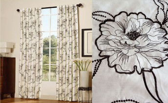 Magnolia Embroidery Curtain