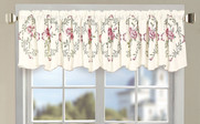 Light Pink Roses Embroidery Window Curtain Valance