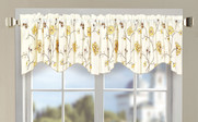 Gold Spring Flower Embroidery Window Curtain Valance