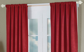 Burgundy Madison Crush Curtain Set