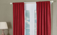 Burgundy Close Madison Crush Curtain Set