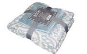 Tivoli Knitted Throw & Matching Pillow Shell Combo Pack