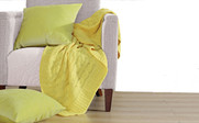 Butter Cup Super 18 Cable Throw & Pillow Shell 3 Piece Combo Set