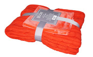 Fiesta Super 18 Cable Throw & Pillow Shell 3 Piece Combo Set Pack