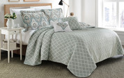Tivoli Ikat Quilted 5 Piece Bed Spread Set Reverse