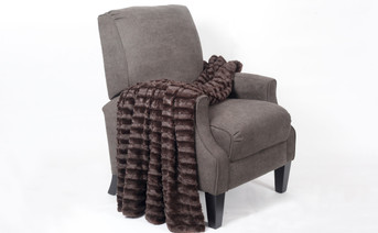 Chocolate Derby Jumbo Over-Sized Double Sided Faux Fur Throw