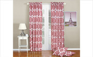 Bridal Rose Honor Curtain and Throw Pillow Set Collection