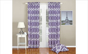 Lavender Rose Honor Curtain and Throw Pillow Set Collection