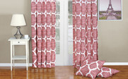 Bridal Rose Honor Curtain and Throw Pillow Set Combo