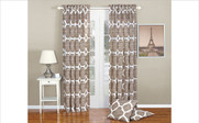 Wind Chime Rose Honor Curtain and Throw Pillow Set Collection