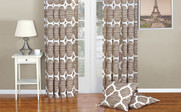 Wind Chime Honor Curtain and Throw Pillow Set Combo