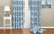 Winter Sky Honor Curtain and Throw Pillow Set Combo