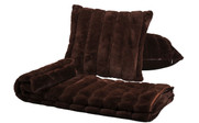 Carafe Rabbit Faux Fur Throw & Pillow Combo Detail Set