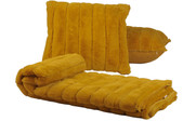 Lemon Curry Rabbit Faux Fur Throw & Pillow Combo Detail Set