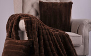 Carafe Rabbit Faux Fur Throw & Pillow Combo Set