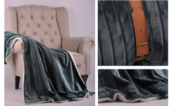 Deep Teal Cutout Travel Flannel Throw Blanket