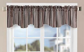 Striped Jacquard Window Curtain Valance