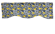 Canary Printed Microplush Valance Flat