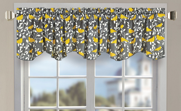 Canary Printed Microplush Valance