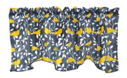 Canary Printed Microplush Valance Smooshed