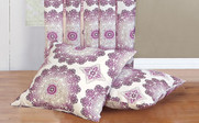 Magenta Purple Delia Curtain & Throw Pillow Shell Combo Set Throw Pillow Shells