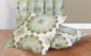Olive Branch Delia Curtain & Throw Pillow Shell Combo Set Throw Pillow Shells