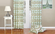 Olive Branch Delia Curtain & Throw Pillow Shell Combo Set