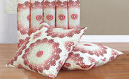 Red Clay Delia Curtain & Throw Pillow Shell Combo Set Throw Pillow Shells