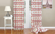Red Clay Delia Curtain & Throw Pillow Shell Combo Set