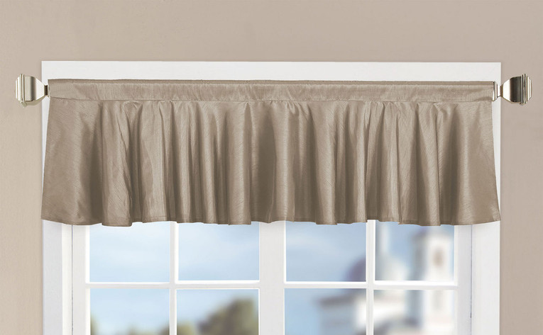 Amphora Solid Faux Silk Valance