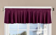 Burgundy Solid Faux Silk Valance
