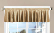 Gold Solid Faux Silk Valance