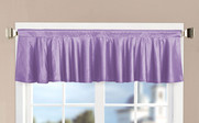 Lilac Solid Faux Silk Valance