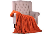 Burnt Orange Ashley Brushed Faux Fur & Matching Sherpa Borrego Backing Throw