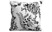 Black Taupe LA Boheme 5 Piece Printed Bed Spread Set Square Throw Pillow