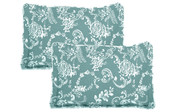 Teal Turquoise Taupe LA Boheme 5 Piece Printed Bed Spread Shams