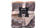 Gray Southwest Jumbo Faux Fur and Sherpa Throw Blanket Retail Pack