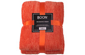 Flame Crystal Chenille Knitted Throw Blanket Pack