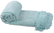 Island Paradise Crystal Chenille Knitted Throw Blanket Rolled
