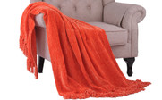 Flame Crystal Chenille Knitted Throw Blanket