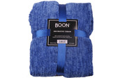 Lapis Blue Crystal Chenille Knitted Throw Blanket Pack