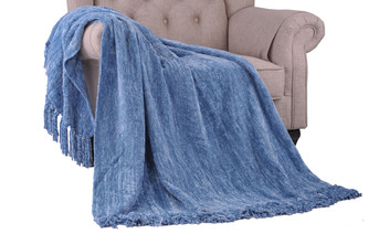 Niagara Crystal Chenille Knitted Throw Blanket