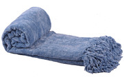 Niagara Crystal Chenille Knitted Throw Blanket Rolled