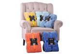 Crystal Chenille Knitted Throw Blanket Comfy Set