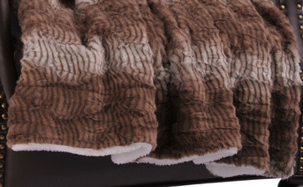 Bella Faux Fur Sherpa Throw Blanket