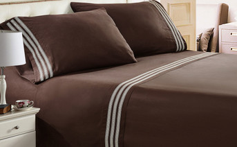 Trois Embroidered Bed Sheet Sets