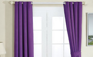 Purple Black Out Curtain 4 Piece Set