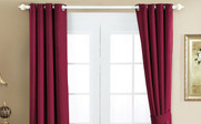 Burgundy Black Out Curtain 4 Piece Set