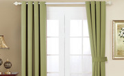 Sage Black Out Curtain 4 Piece Set