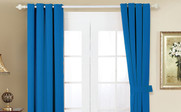 Snorkel Blue Black Out Curtain 4 Piece Set